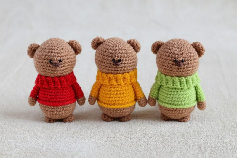 Amigurumi Teddy bear in pajamas rochet pattern PDF Tutorial #Amigurumi # Teddy #bear #in #pa… | Crochet bear patterns, Crochet teddy bear, Crochet  patterns amigurumi | 533x800