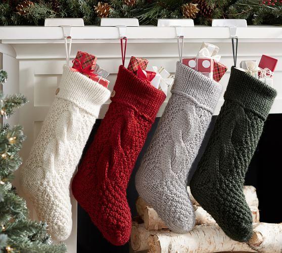 Christmas Time Crochet or Knit Stocking Kit