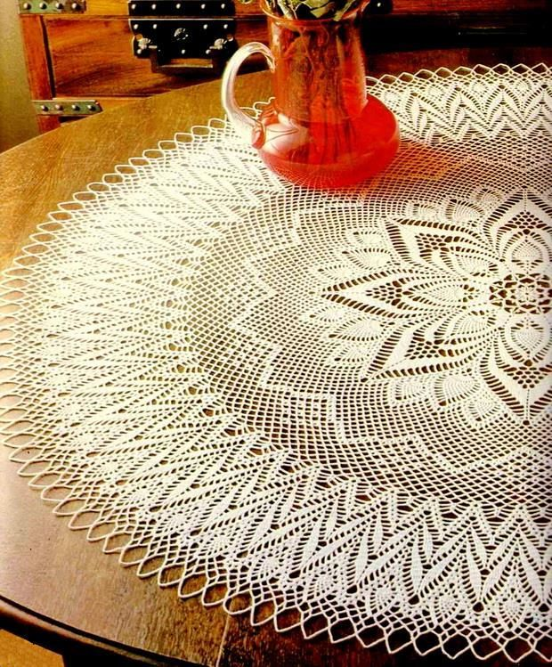 round lace crochet tablecloth pattern