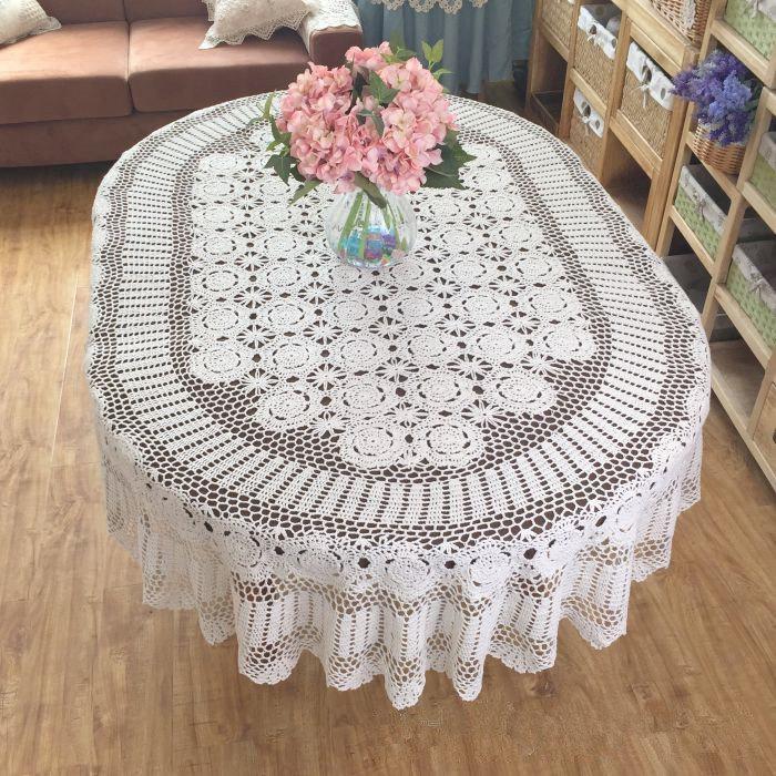 oblong lace crochet tablecloth pattern