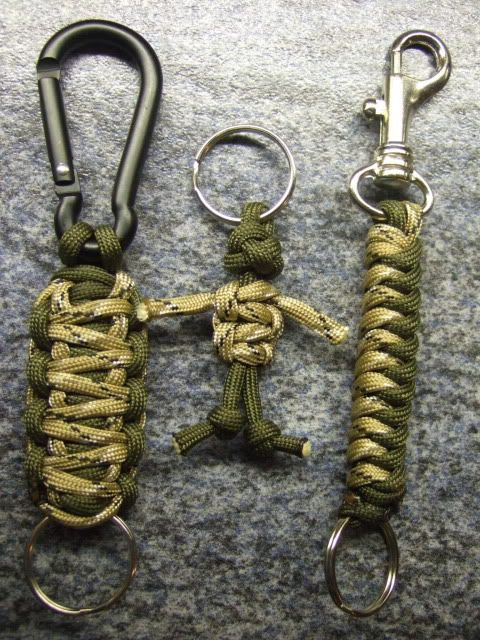 Camouflage Paracord Keychains