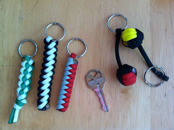 Multicolor Paracord Keychains
