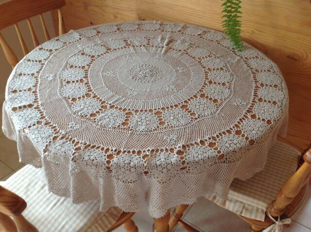 light blue lace crochet tablecloth pattern