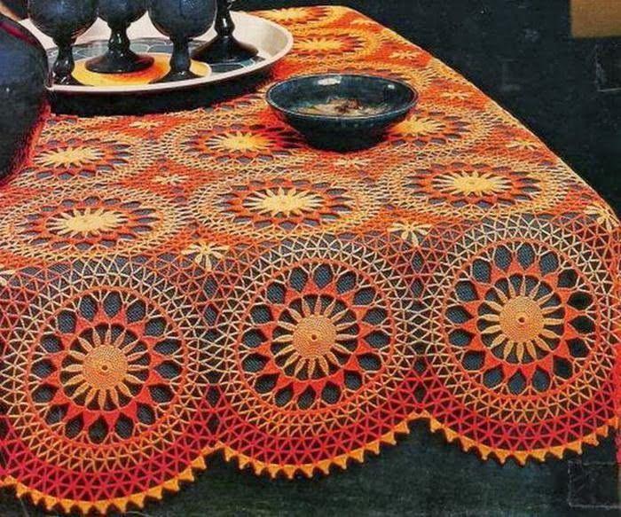 sun lace crochet tablecloth patterns
