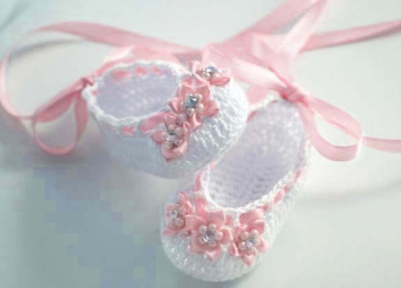 Little GirlBaby Bright Pink Crocheted Sleepers