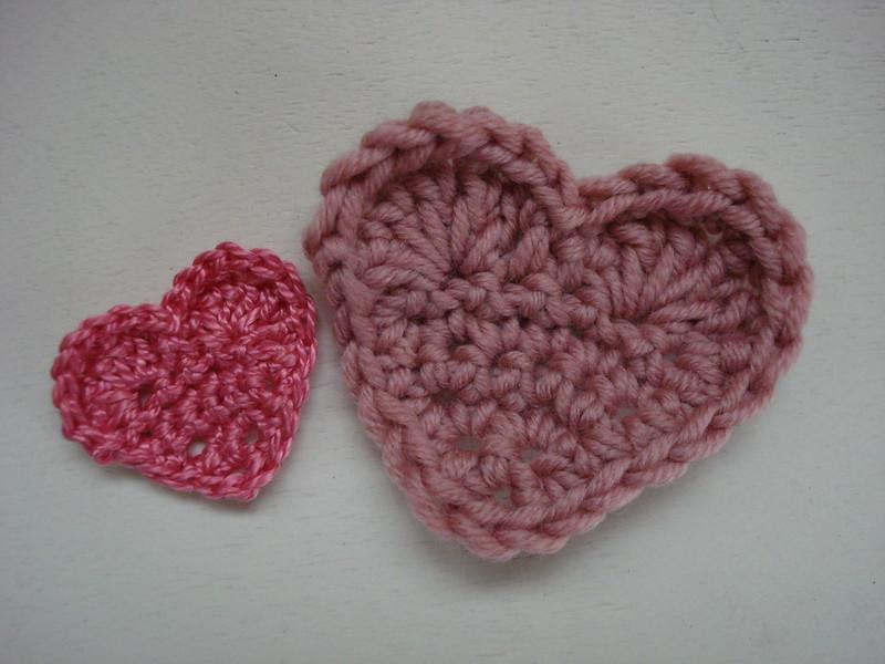 Multi Sized Crocheted Hearts