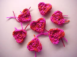 Pretty Pink Crocheted Hearts