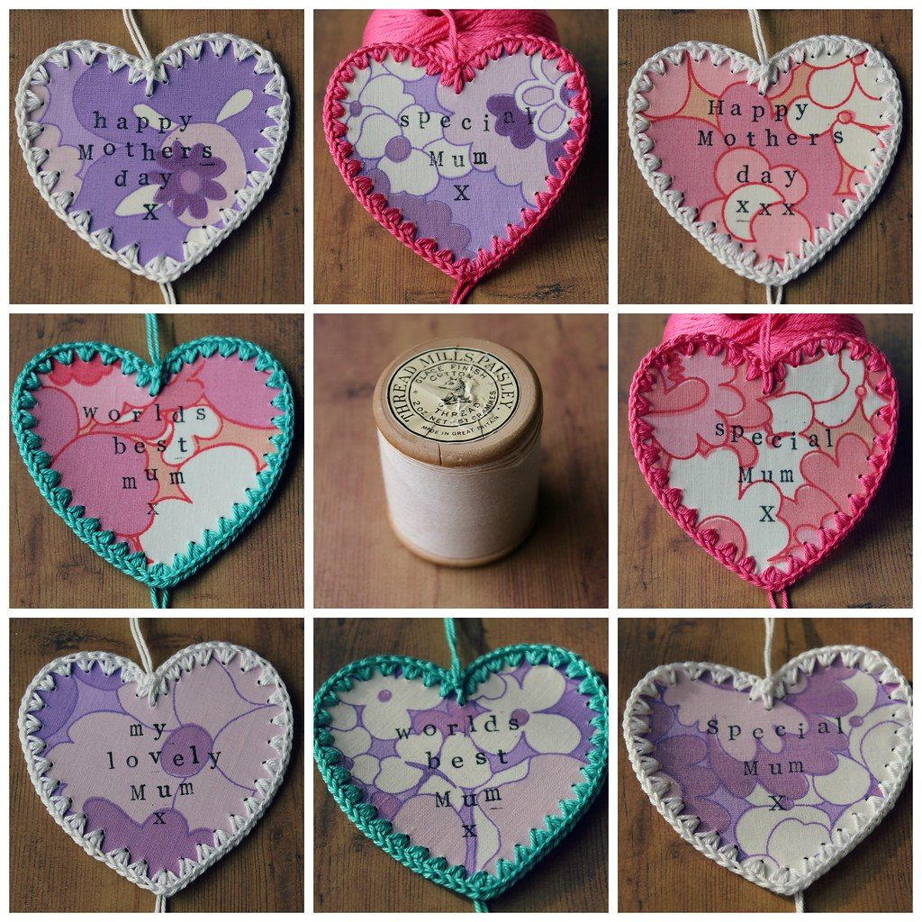 Crocheted Message Hearts