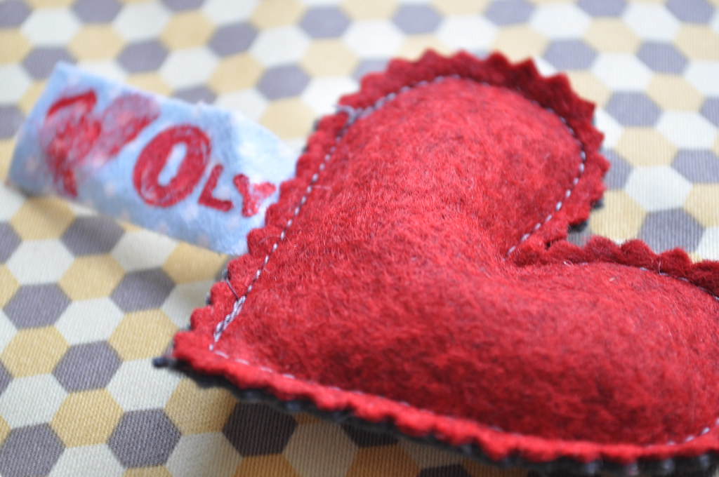 Traditional crocheted heart