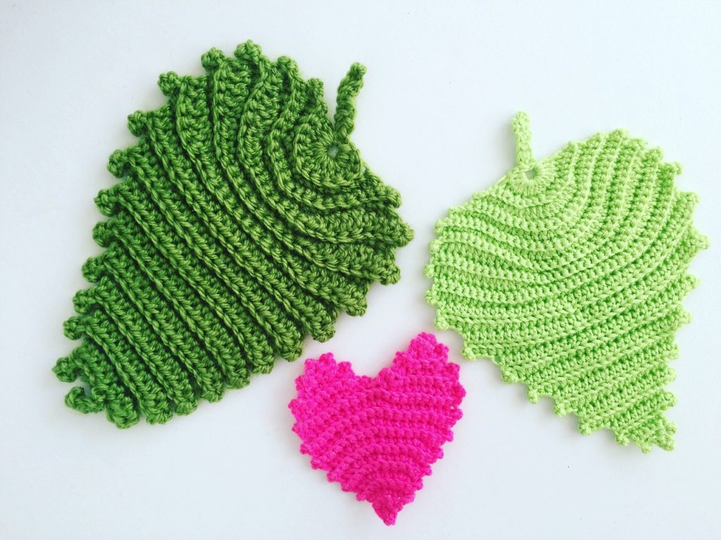 Heart and Leaves Crochet