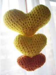 Crocheted Trilogy Hearts