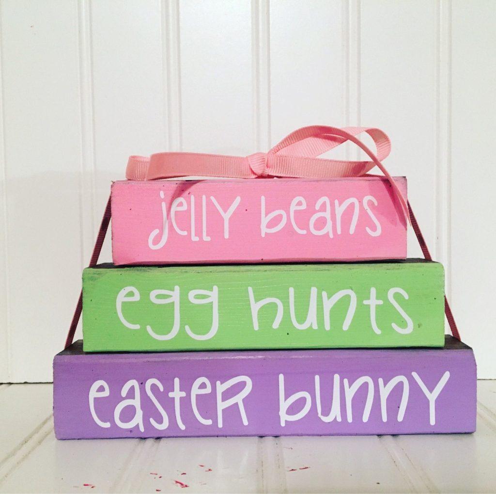 Easter Wooden Book Set