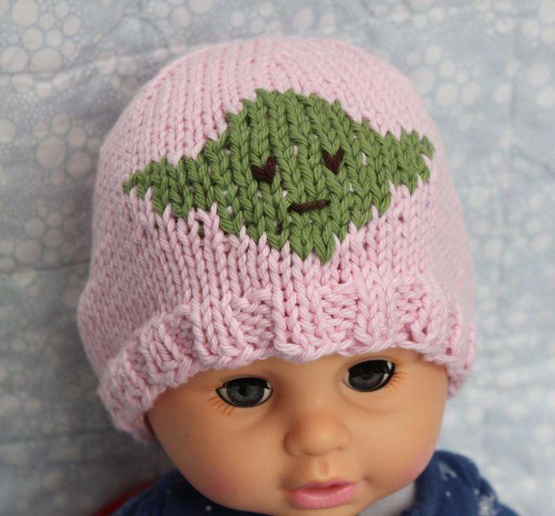 baby yoda pattern green hat