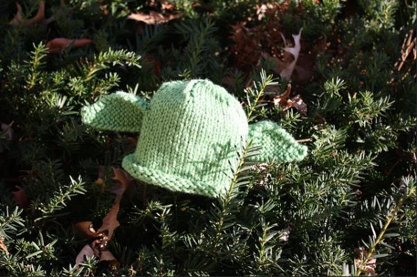light green baby yoda pattern
