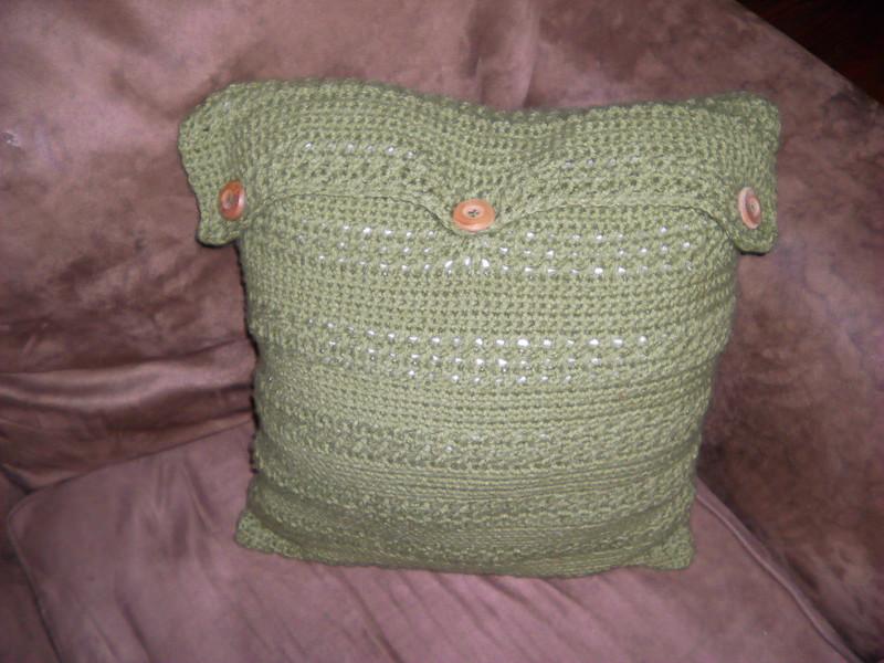 sweater pattern crochet pillow cover