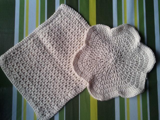 beige crochet dishcloth patterns