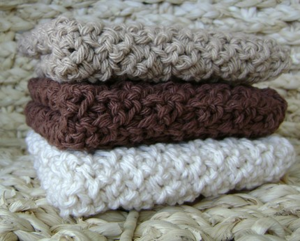 brown and beige crochet dishcloth patterns