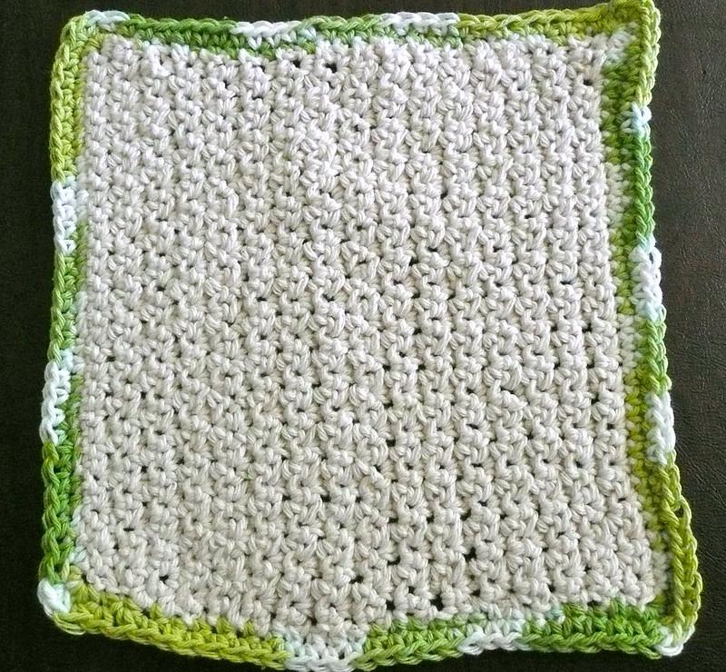 green rimmed crochet dishcloth patterns