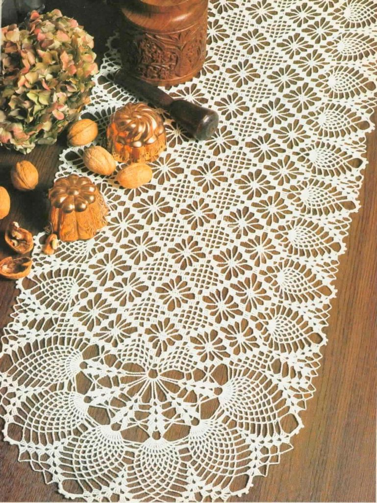 Crochet Victorian Oval Table Runner Pattern