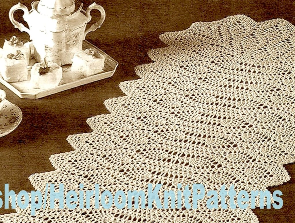 Crochet Pineapple Table Runner Pattern