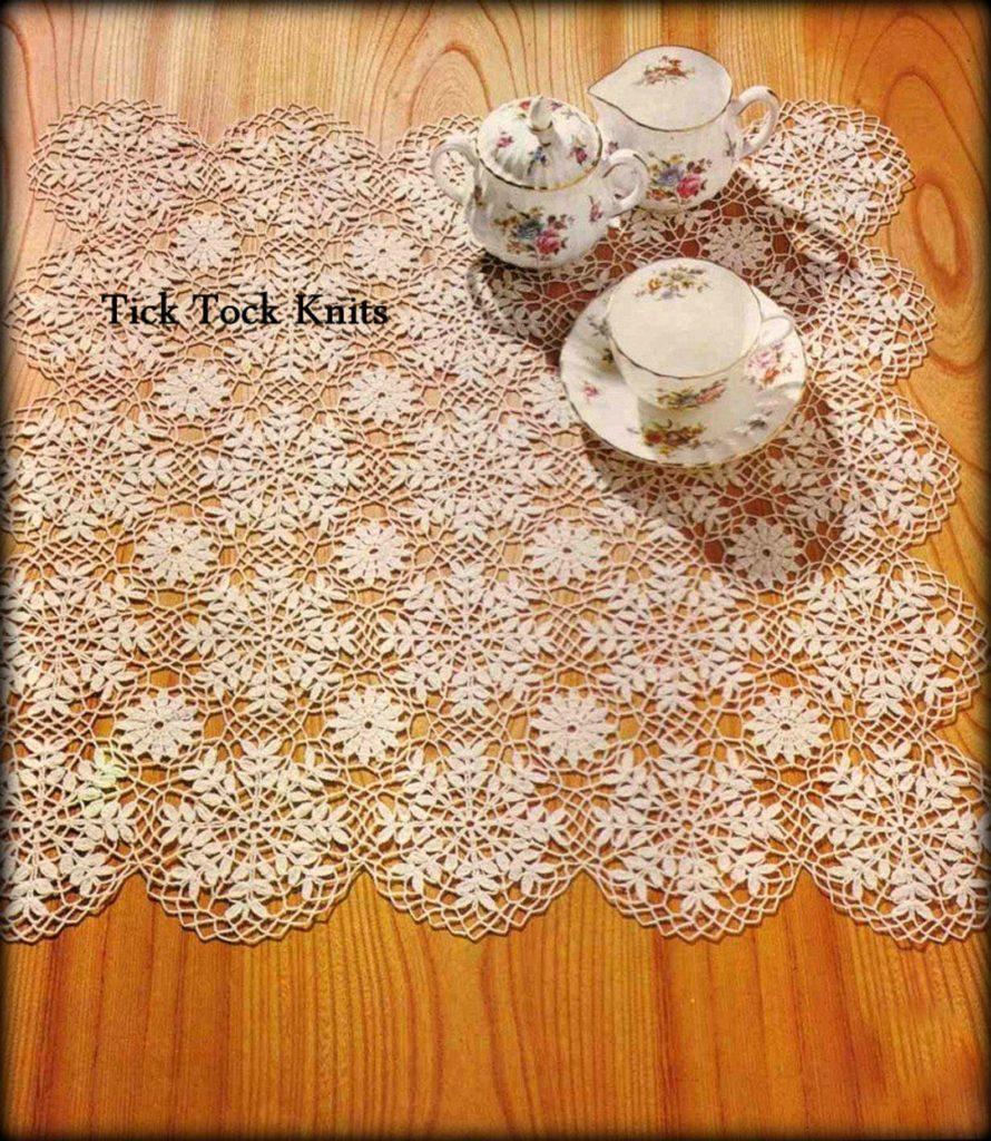 Crochet Snowflake Table Runner Pattern