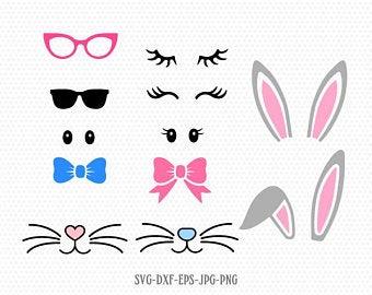 Easter Bunny Face Kit Cut File