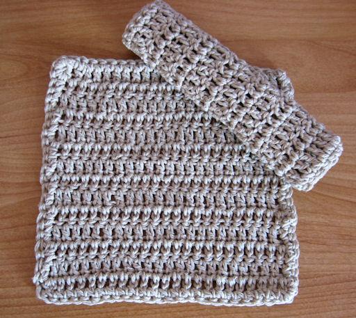 lavendar crochet washcloth