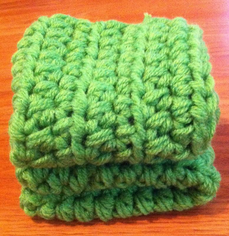 green crochet washcloth patterns