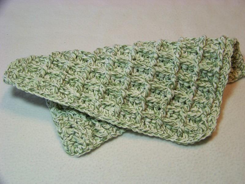 moss crochet washcloth pattern