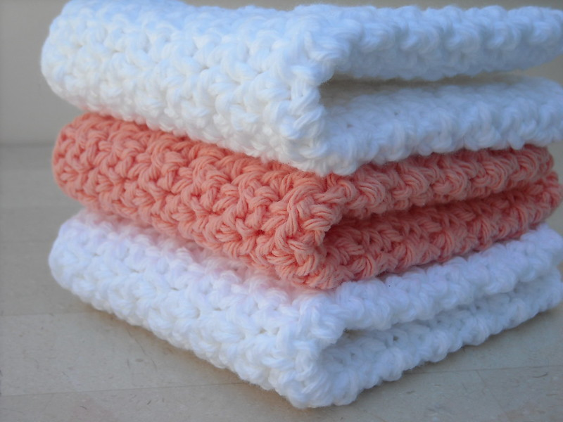 fluffy crochet washcloths