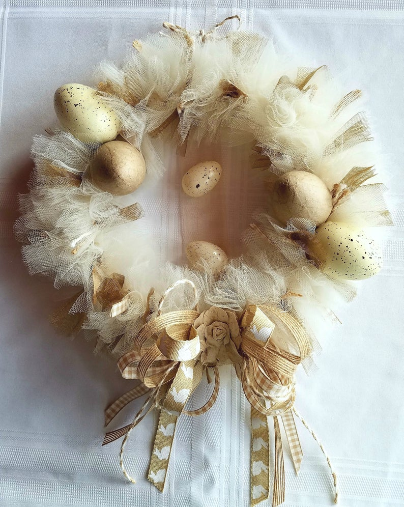 Easter Egg Tulle Wreaths