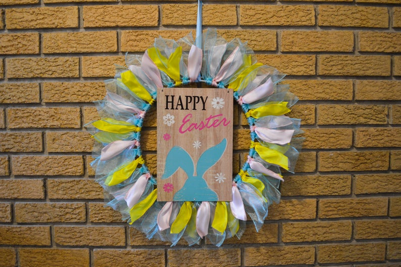 Happy Easter Tulle Wreaths