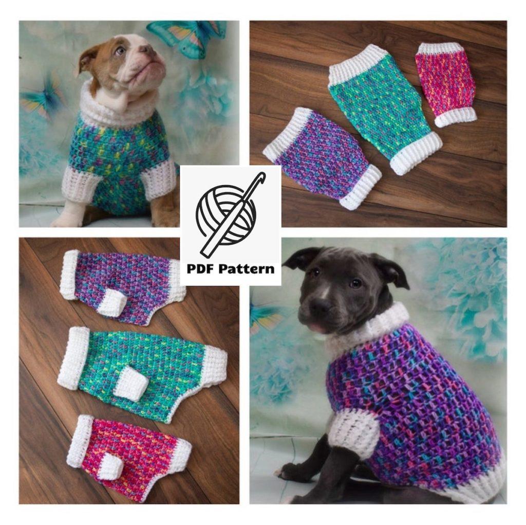 25 Beautiful Crochet Dog Sweater Patterns The Funky Stitch