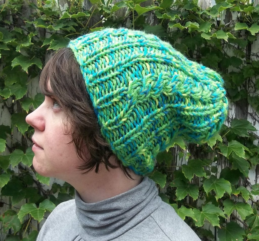 Knit Hat warm winter hat with cable designs many colors custom order