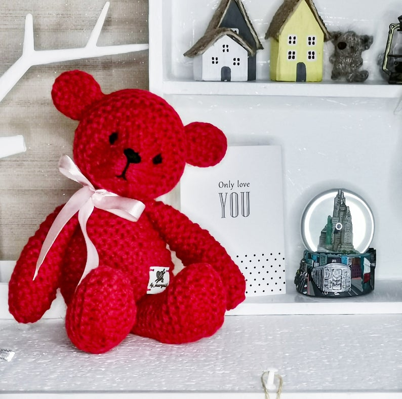 Knitting pattern Easy Knitting bear pattern Teddy bear pattern Stuffed Soft Animal Toy Instant Download PDF toy knitting pattern
