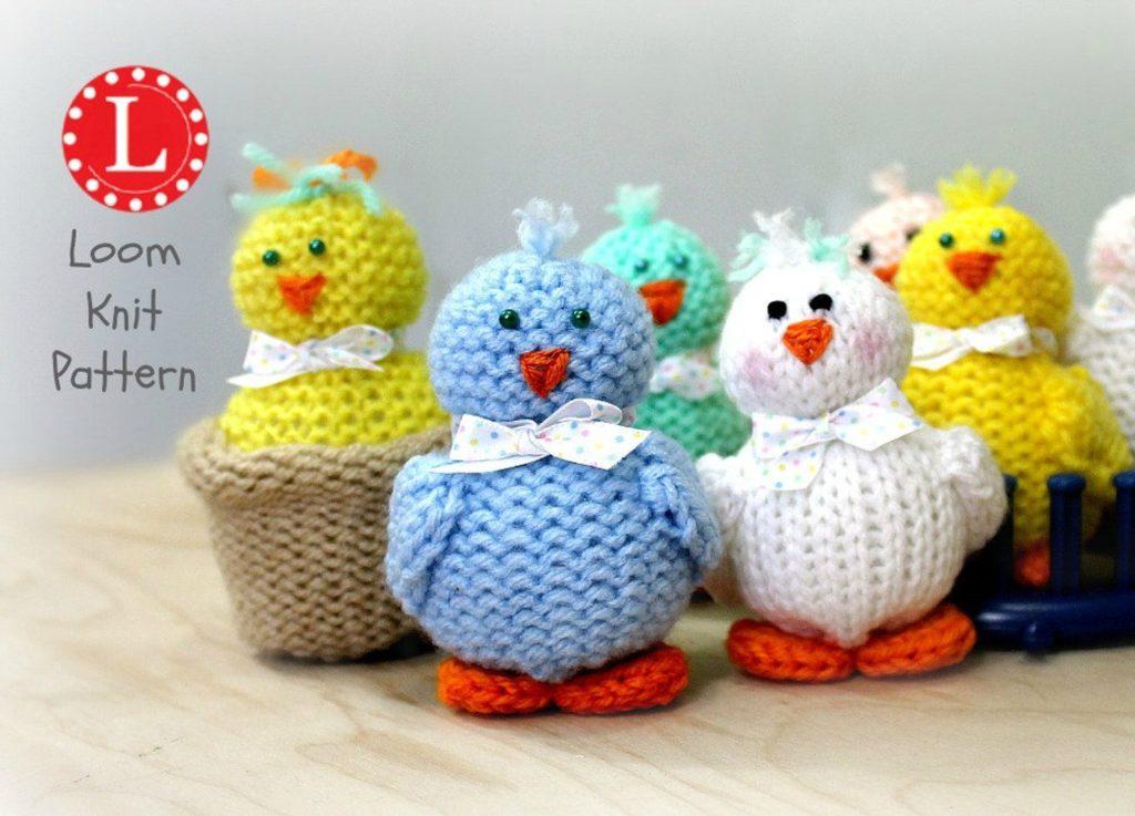 Chicken loom knit pattern