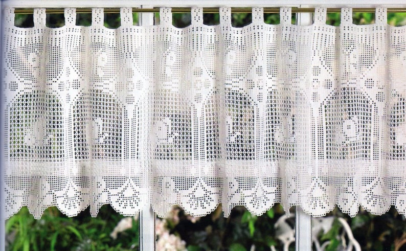Butterfly Curtain Valance Crochet Pattern Butterfly Valance Curtain Crochet Pattern PDF Instant Download
