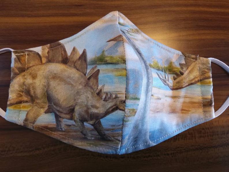 dinosaur face mask design ideas
