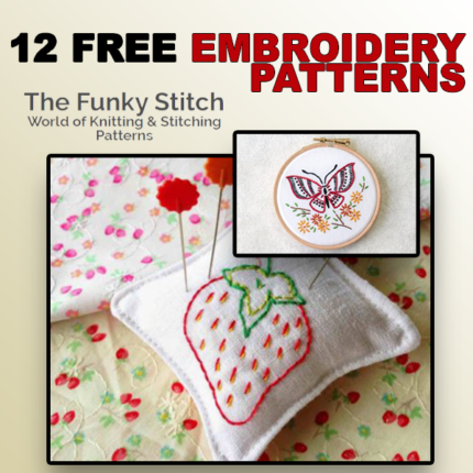 12 Free Embroidery Patterns