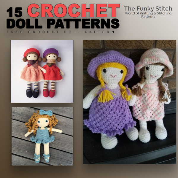15 Crochet doll Patterns