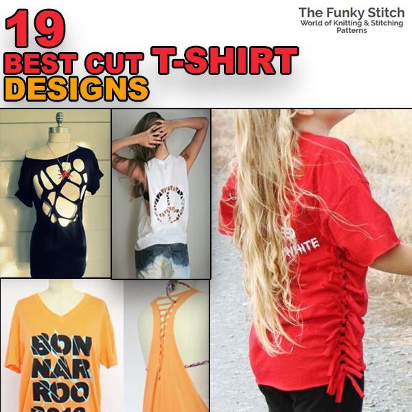 19 Best Cut T-Shirt Designs