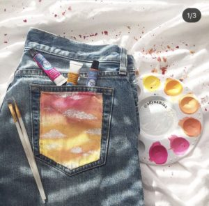 16 Best Painted Jean Pockets The Funky Stitch