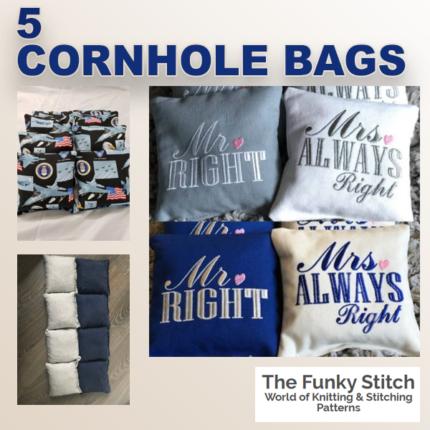 5 Cornhole Bags