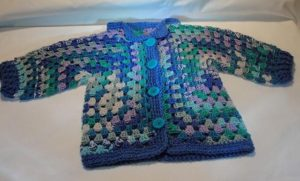 Surprise Crochet Hexagon Baby Sweater Pattern
