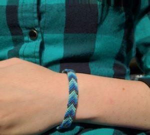 Blue Chevron Arrow Friendship Bracelet