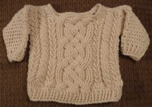 Crochet Baby Sweater with Cable Pattern