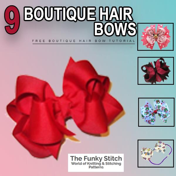 9 Boutique hair bows