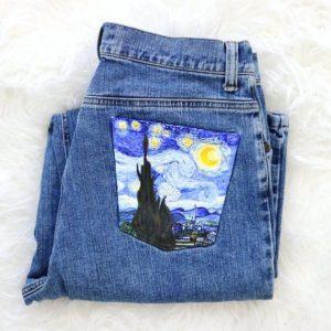 Painted Jean Pocket DIY