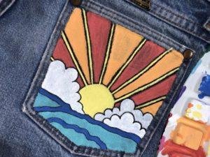 Creative Painted Jean Pocket Idea