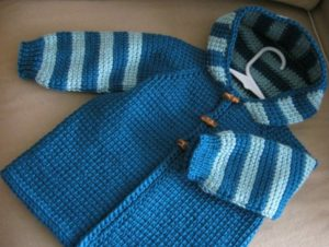 Aran Baby Sweater Free Tunisian Crochet Pattern